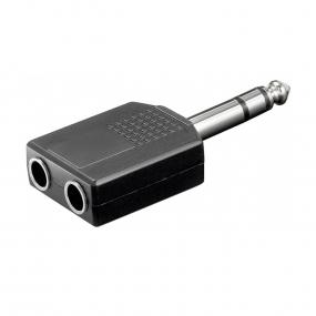 Adapter 6.3mm ST M - 2x6.3mm ST F