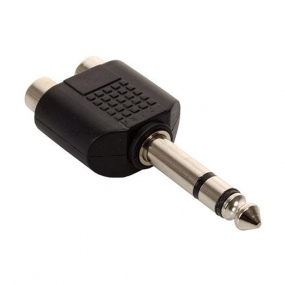 Adapter 6.3mm ST M - 2xRCA F