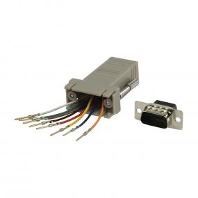 Adapter D-Sub 09 M - RJ45 F
