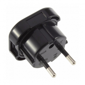 Adapter Euro utikač - UK utičnica crni