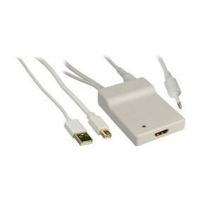 Adapter HDMI AF OUT - USB AM + Displayport mini M + Toslink M IN