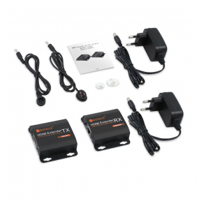 Adapter HDMI AF - RJ45 F CAT6/7 sa IR funkciom, set 2/1 do 60m