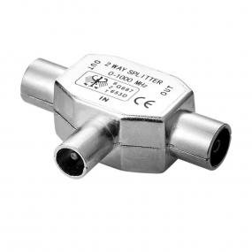 Adapter RF F - 2xRF M metalni