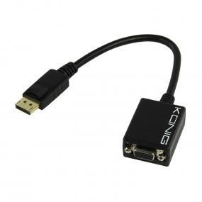 Kabl Displayport M - VGA F, 0.2m