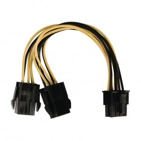 Kabl PC Napojni 8pol F - 2x 6pol PCI express F, 0.15m