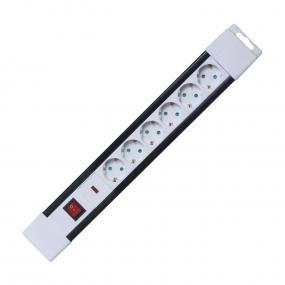 Kabl produžni 6 utičnica, 2m sa prenaponskom zaštitom i prekidačem