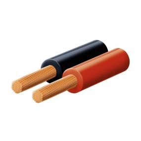 Kabl zvučnički P/F 2x1.00, crveno/crni
