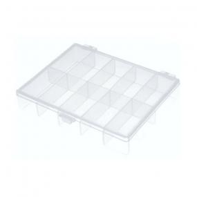 Klaser plastični sa 10 pregrada providni NB-BOX10, (120x90x22)mm