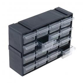 Klaser plastični sa 16 fioka crni, (220x70x160)mm