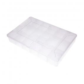 Klaser plastični sa 18 pregrada providni NB-BOX18B, (275x185x40)mm