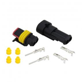 Konektor 2-pin vodootporni set M/F za kabl