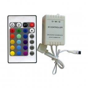 LED kontroler RGB sa daljinskim IR24B, 3x2A, 5/12/24VDC