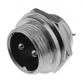 Mikrofonski konektor 2-pol M ugradni