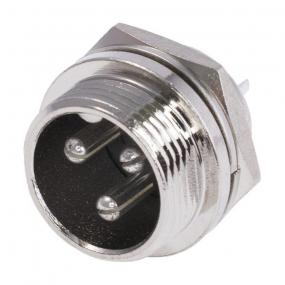 Mikrofonski konektor 3-pol M ugradni