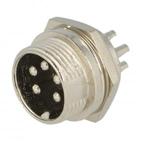 Mikrofonski konektor 5-pol M ugradni