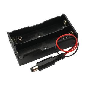Nosač za 2x18650 sa napojnim konektorom 2.1/5.5mm
