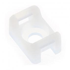 Nosač za vezice 4.6mm za vijak, beli
