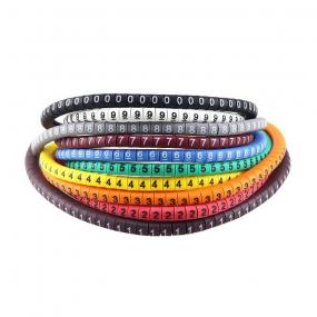 Obeleživači kablova u boji 0-9, 1.5mm, set 500/1