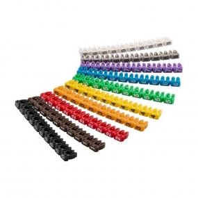 Obeleživači kablova u boji 1.5-2.5mm, set 100/1