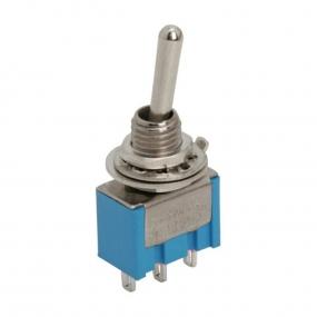 Prekidač kipp 3A/250V 1-pol 3-položaja, fi=6mm
