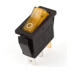Prekidač wipp 15A/250V 1-pol sa ind žuti