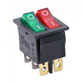 Prekidač wipp 2x15A/250V sa ind zeleno/crveni