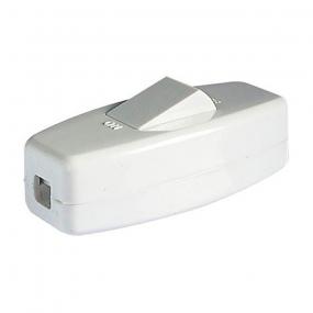 Prekidač za kabl beli 6A/250VAC