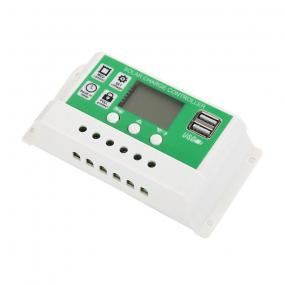 Punjač akumulatora solarnih ćelija, 12/24V, 20A, 2xUSB