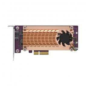 Qnap QM2-2P-244A dual M.2 22110/2280 SATA SSD expansion card