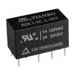 Relej HJR1-2C-L-05VDC (5V, 2A, 2xM+R)