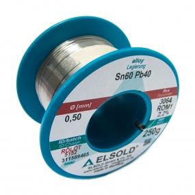 Tinol žica Elsold Sn60/Pb40, 0.5mm 250g