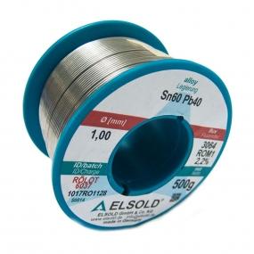 Tinol žica Elsold Sn60/Pb40, 1mm 500g
