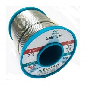 Tinol žica Elsold Sn60/Pb40, 2mm 1kg