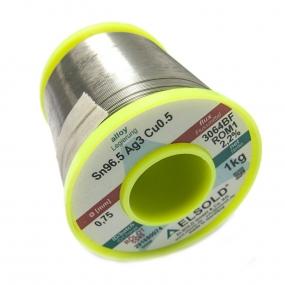 Tinol žica Elsold Sn96.5/Ag3/Cu0.5, 0.75mm 1kg