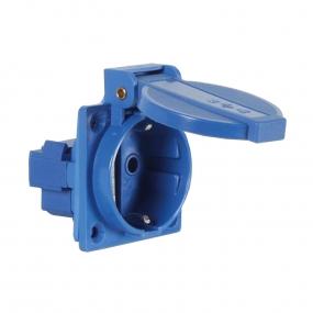 Utičnica ugradna 220V plava vodootporna