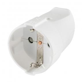 Utičnica za kabl plastična bela