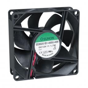 Ventilator 80x80x25 12VDC lager